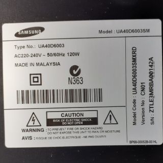 Samsung 40inch smart flat screen