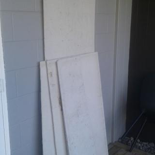 Fibre cement sheet offcuts