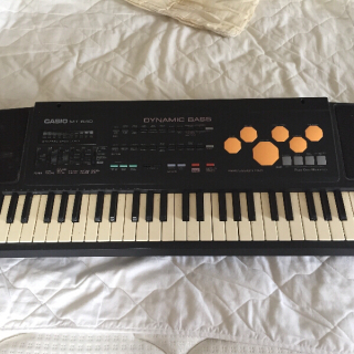 Keyboard awaiting pick up
