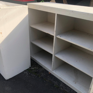 Bookcases or shelves
