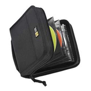 BLACK ZIP UP CD CASE