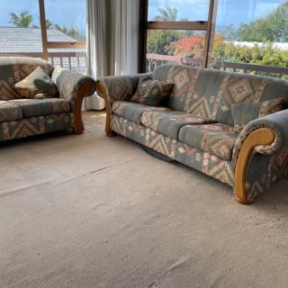 2 seater & 3 seater couches & 4 matching cushions